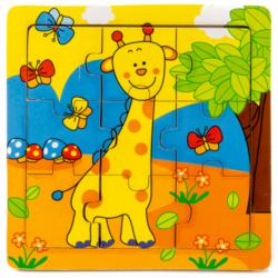 Zsiráfos fa puzzle - 9 darabos   vesszoparipa.hu