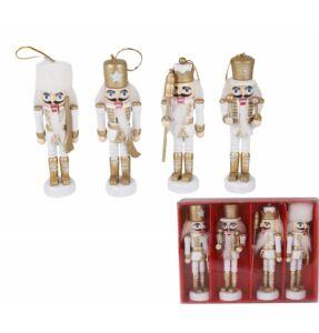 Diótörő figurák dobozban - fehér és arany szín - vesszoparipa.hu