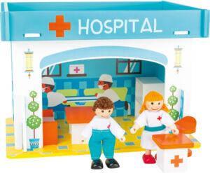 Nyitható kórház készlet - asztali kirakó fajáték (Small Foot)
