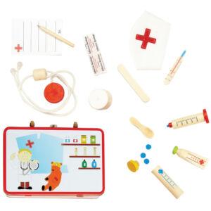 Orvosi készlet fém bőröndben