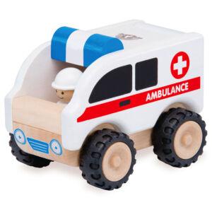 Fa játék mentőautó