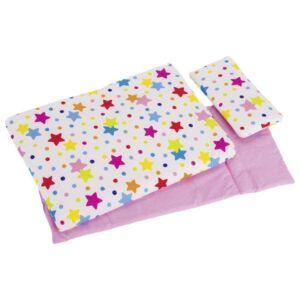 Csillag mintájú játék babaágynemű játék bababútorhoz - Goki márka